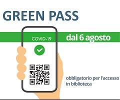 """ACCESSO ALLA BIBLIOTECA COMUNALE VILLA RAGGIO – OBBLIGO """"GREEN PASS"""""""